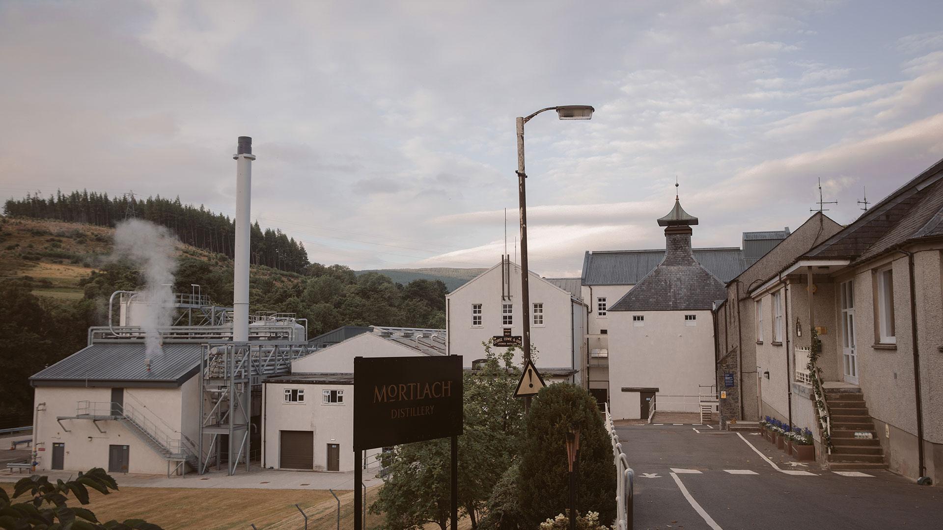 The Mortlach distillery in Dufftown, Speyside