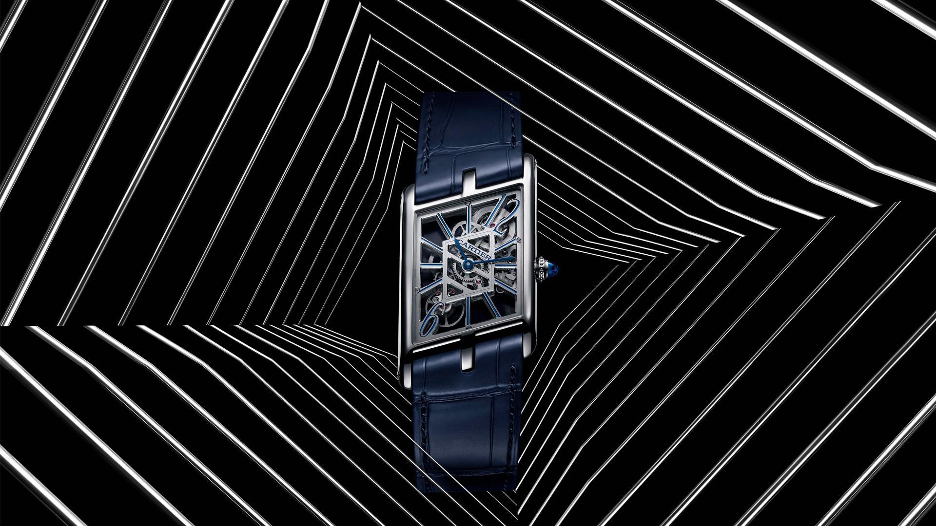 Cartier Privé Tank Asymétrique Skeleton watch