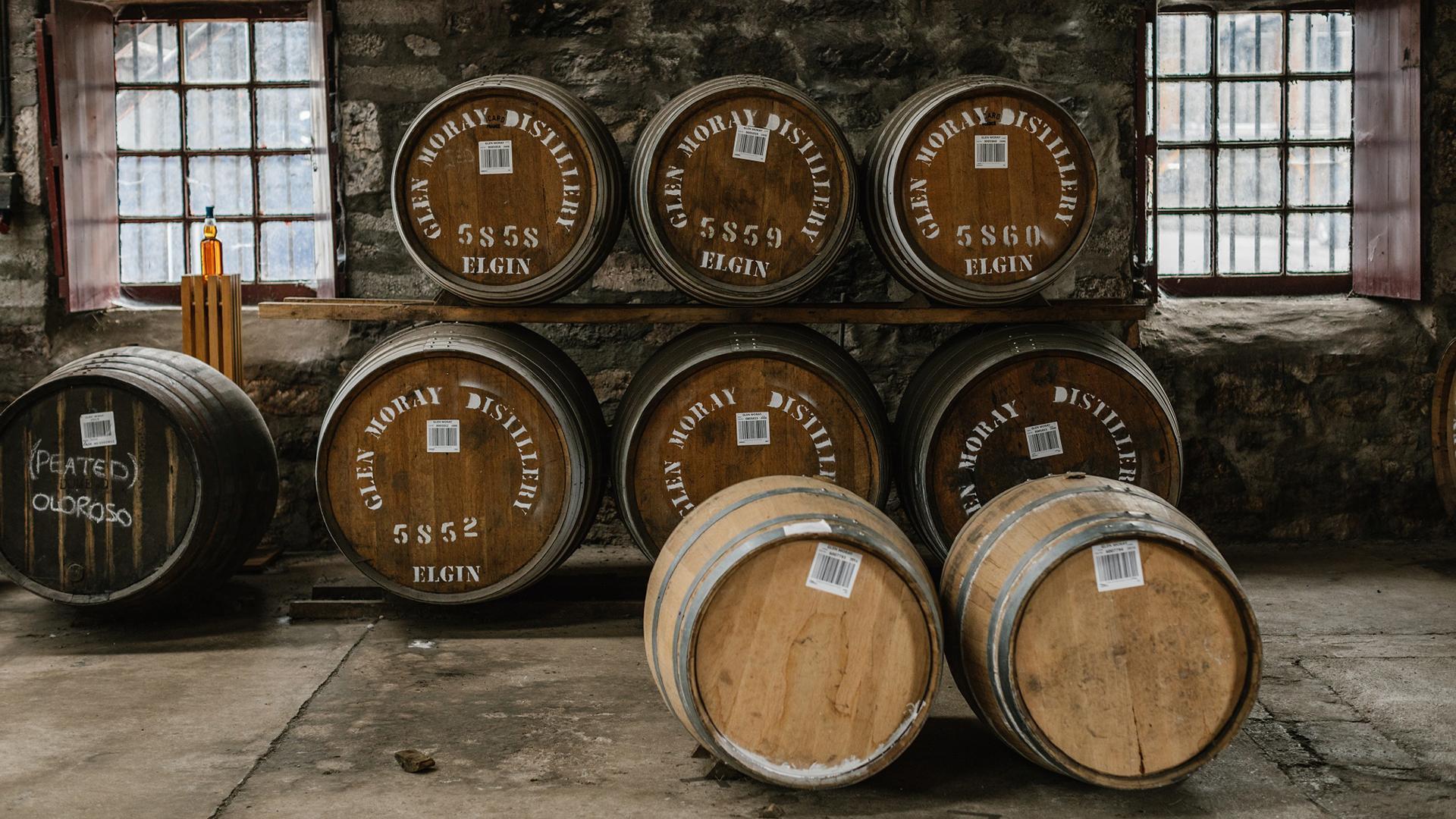 Glen Moray whisky barrels