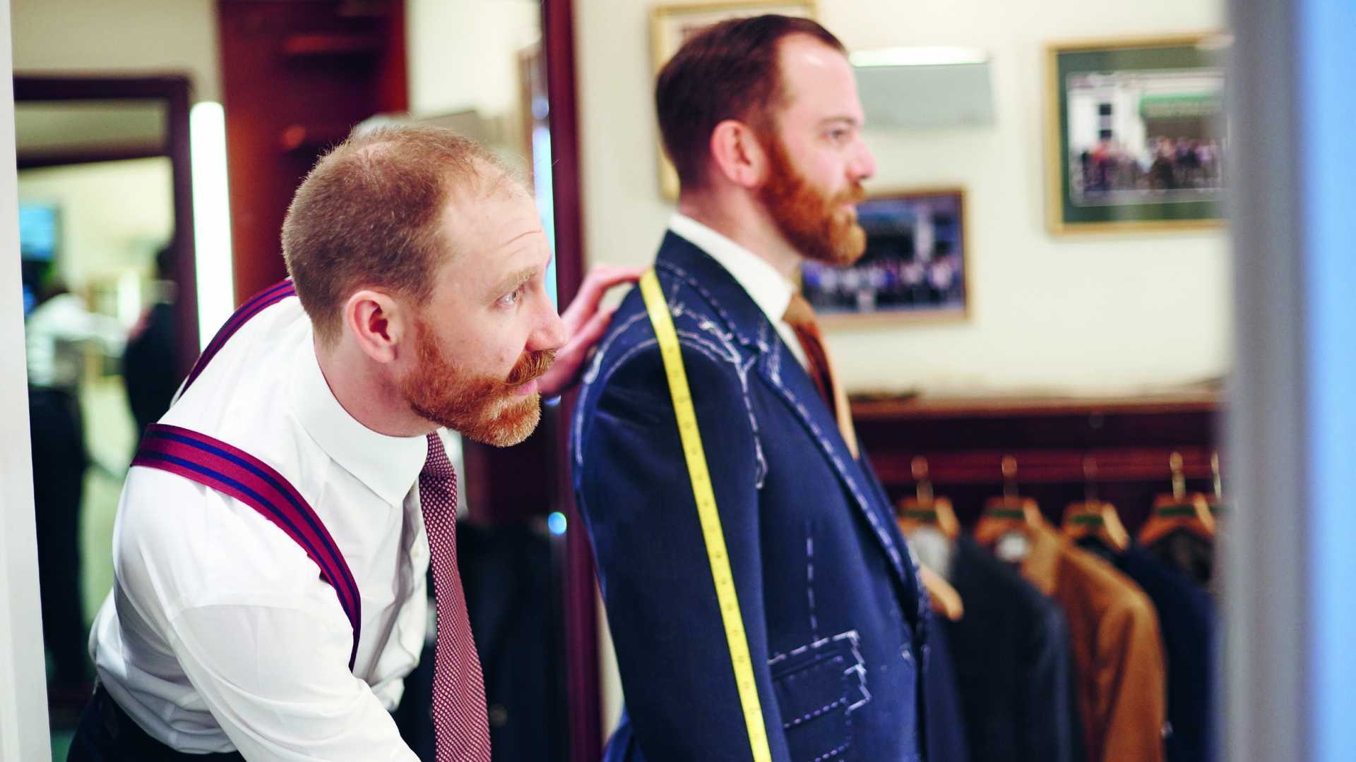 Savile Row tailors Henry Poole & Co suit being tailored