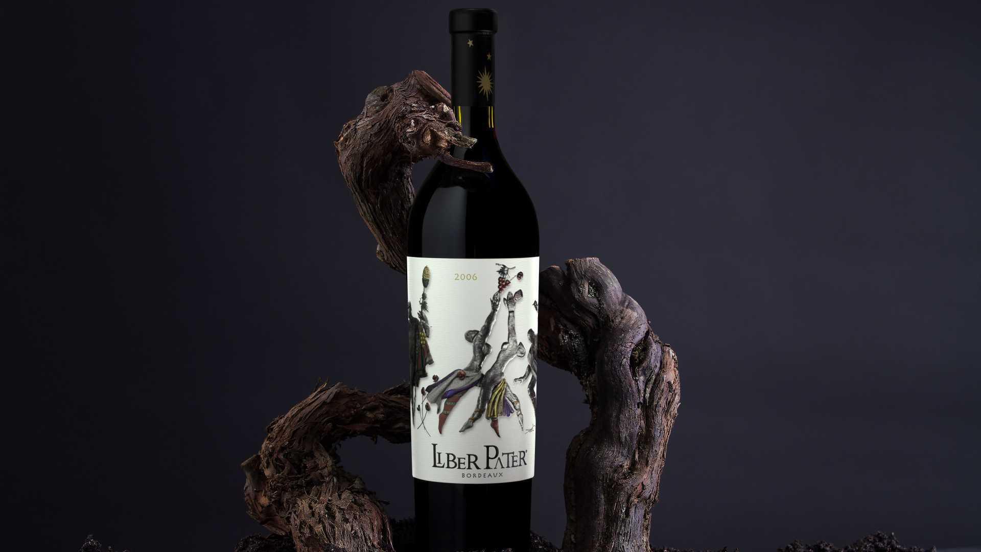 Liber Pater wine bottle