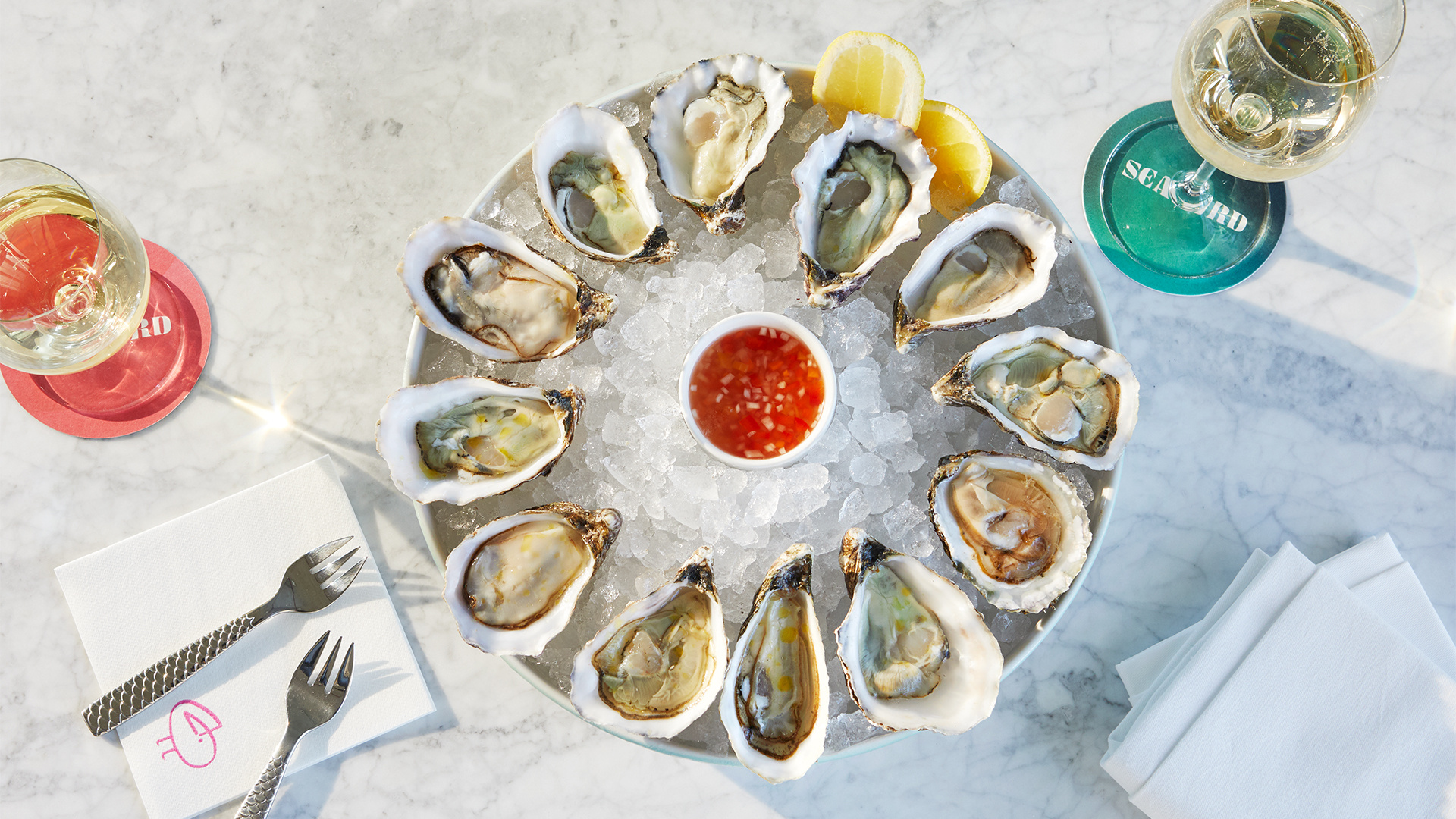 Seabird restaurant: the oysters