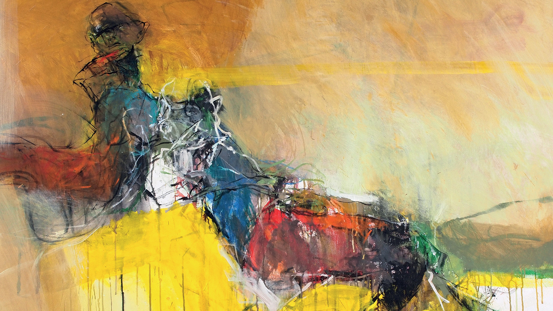 A crop of one of Adel Dauood's dramatic art works.