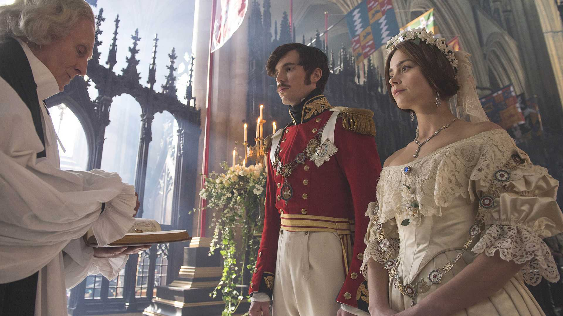 Prince Albert and Queen Victoria in the Victoria TV series