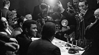 Muhammad Ali Interviewed by Reporters, London, England, 1966