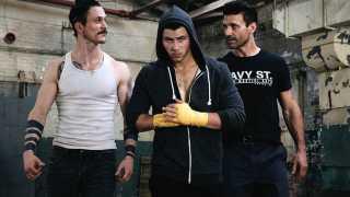 Jonathan Tucker, Nick Jonas and Frank Grillo in Kingdom