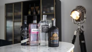 Aviation Gin, Cotswolds Dry Gin, Jaisalmer Gin, and Pinkster Gin