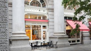 Oeno House wine boutique exterior, The Royal Exchange, City of London