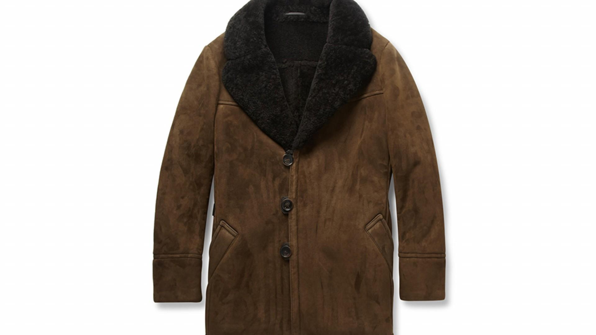 SHEARLING SHAWL-COLLAR COAT, £5,950, MRPORTER.COM
