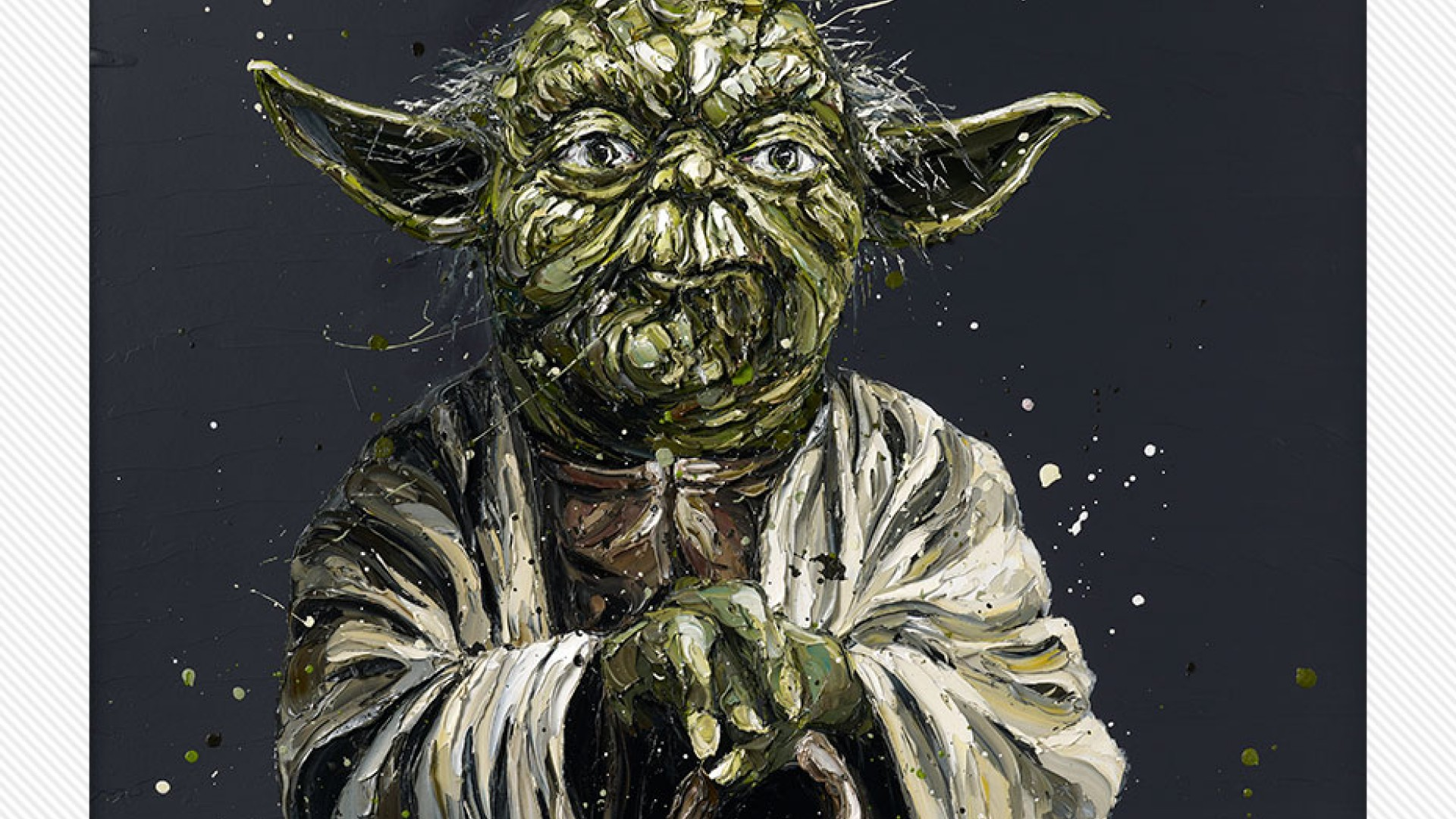 Yoda Face detail by Paul Oz