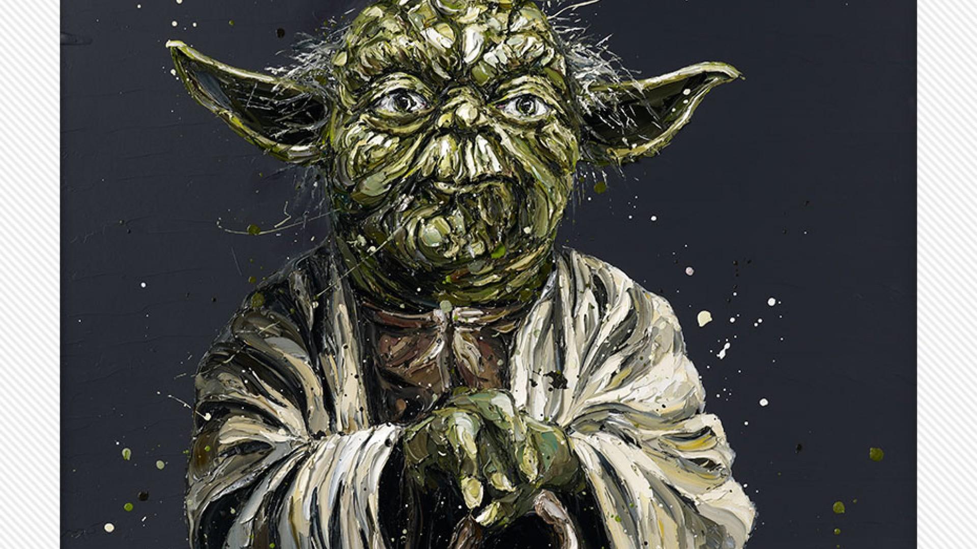 Yoda Face detail by Paul Oz