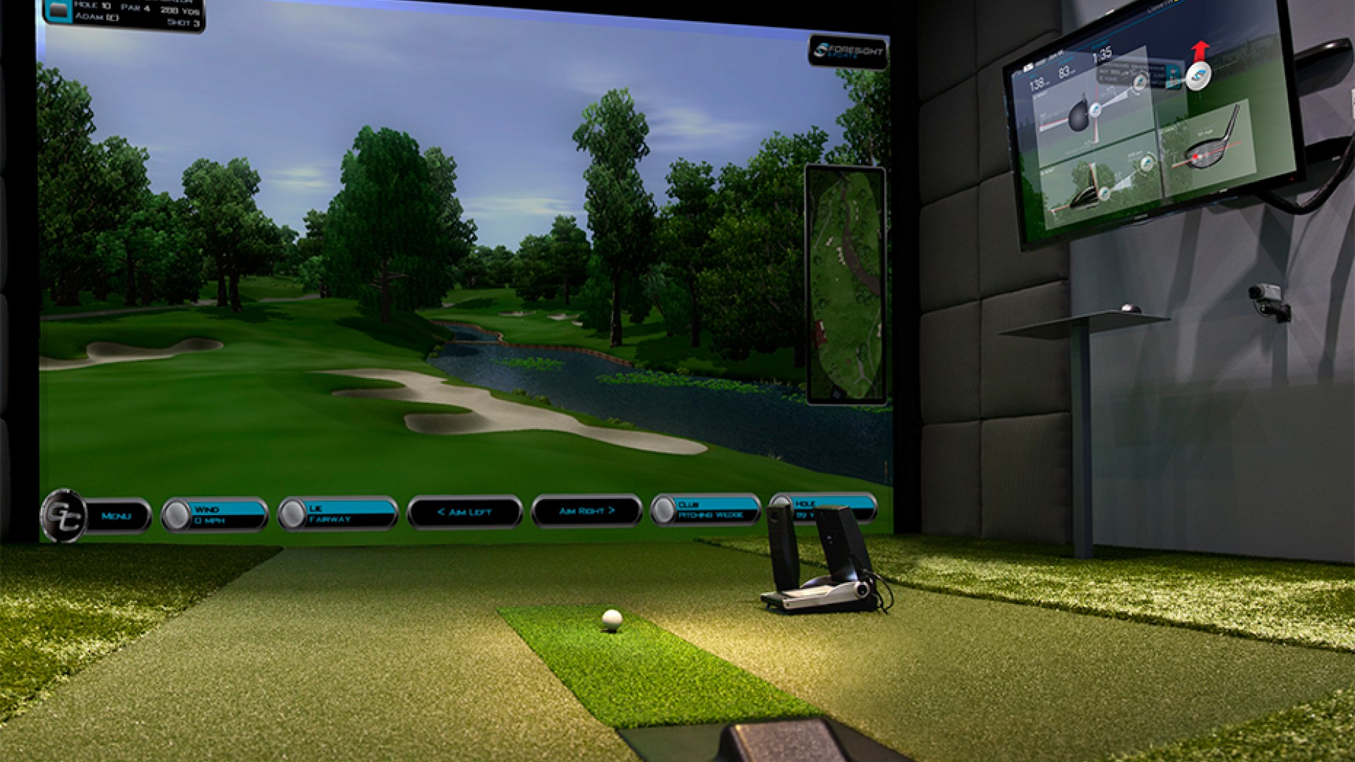 Baby it 39 s cold outside time to buy a golf simulator for Golf simulator room dimensions