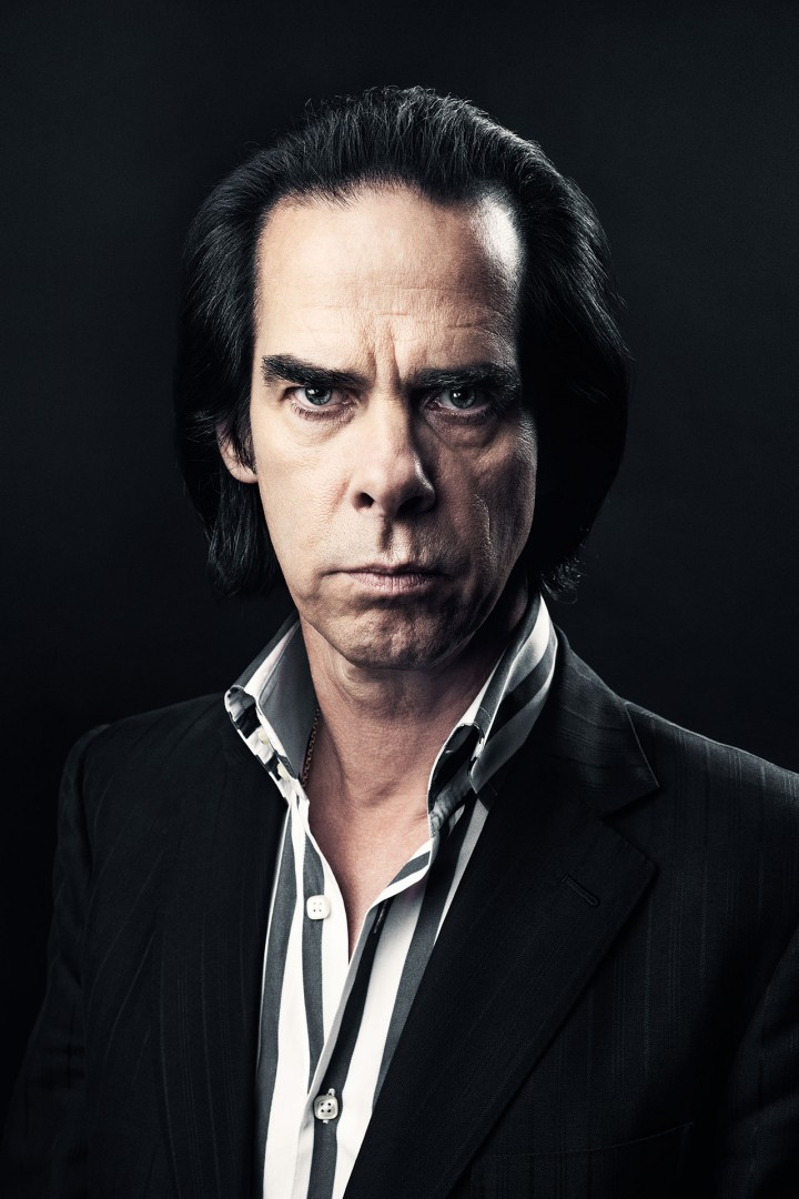 Nick Cave portrait by Tom Oldham