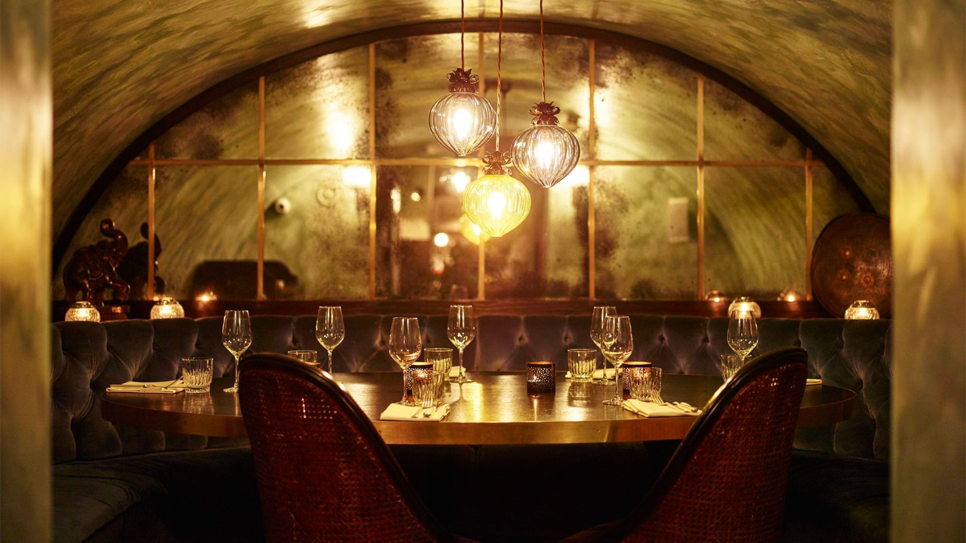 Private dining table at Gymkhana