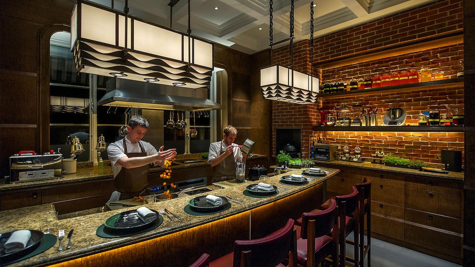 Private dining table Aulis at Fera, Claridge's hotel