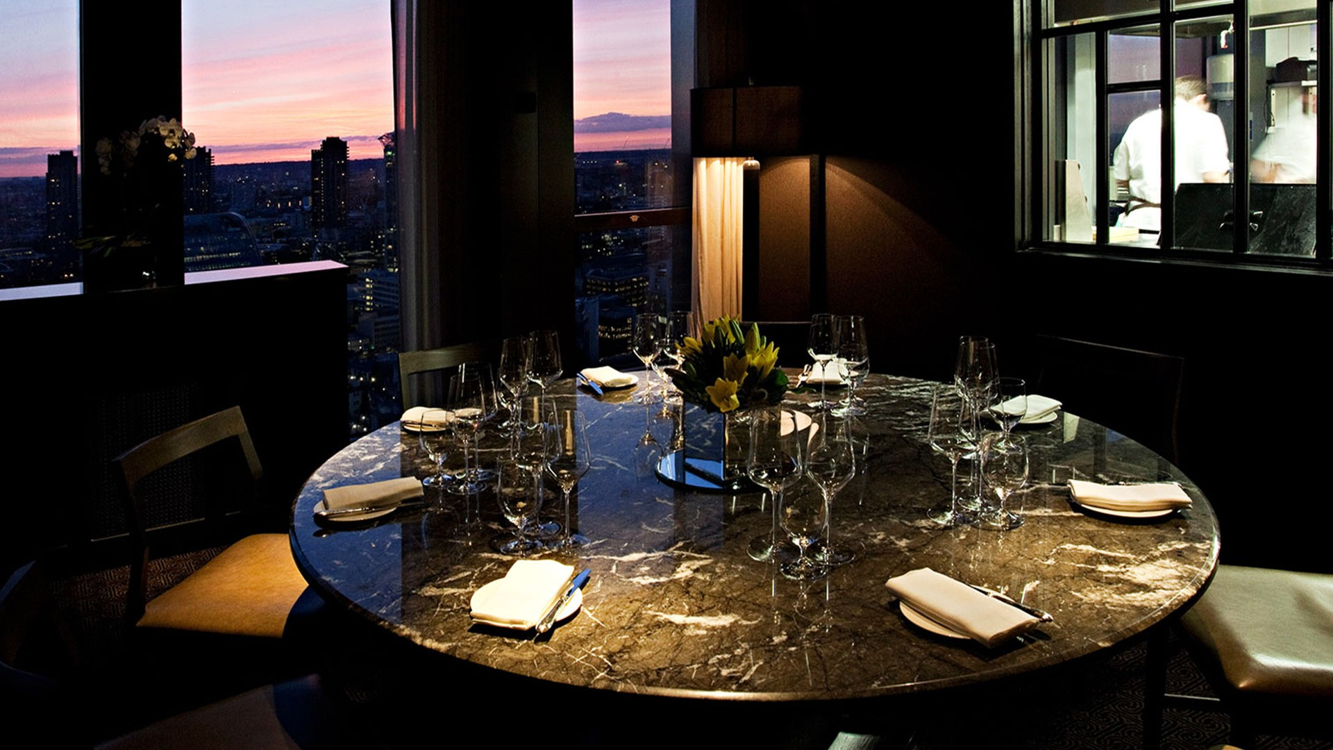 Private dining table at City Social by Jason Atherton