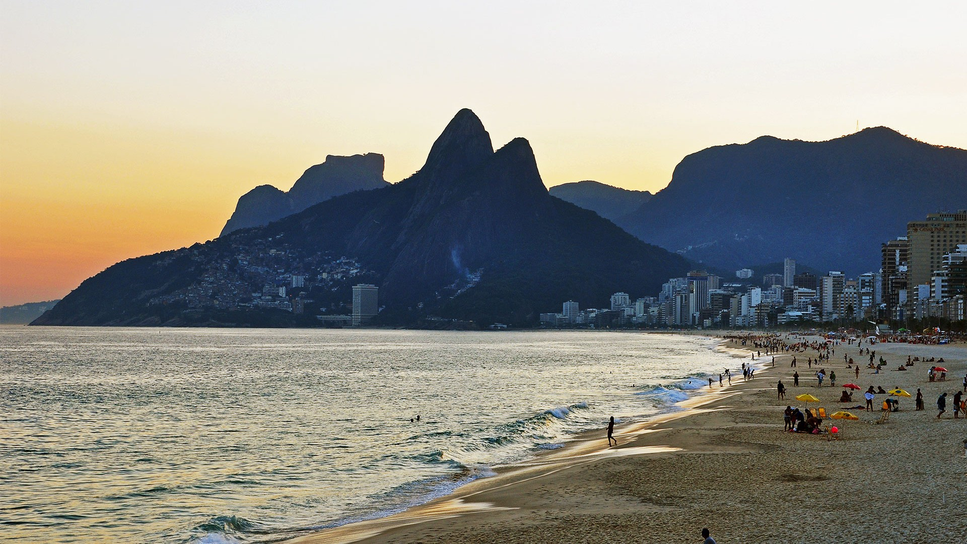 Ipaenema Beach in Rio de Janeiro