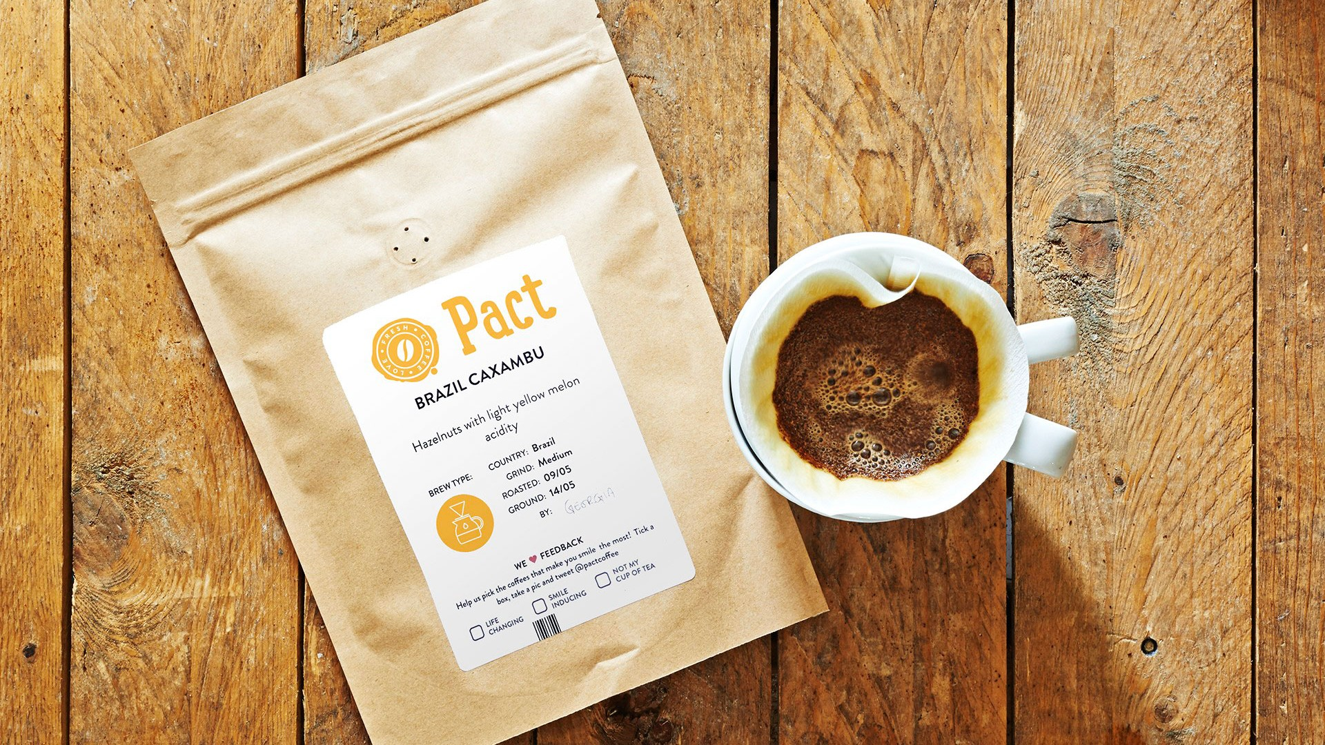 Pact Coffee bag