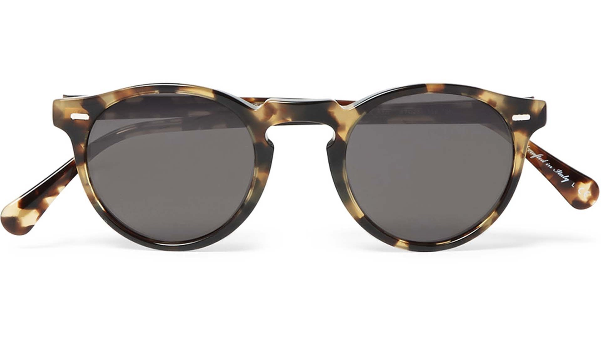 Oliver Peoples: Gregory Peck Round-Frame Tortoiseshell Acetate Sunglasses