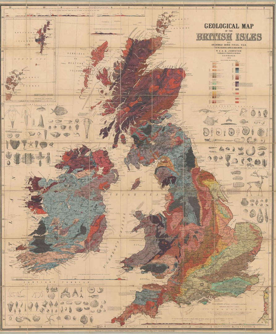 Archibald Geike – Map of the British Isles