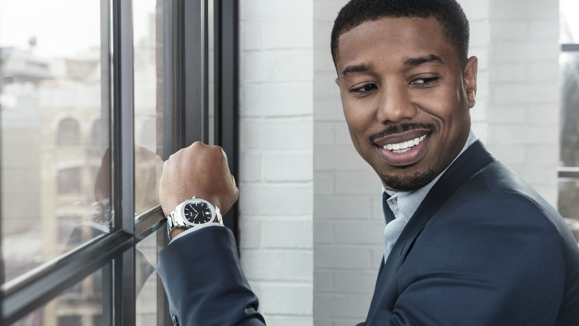 Michael B Jordan on Piaget watches, Black Panther and training hard for Creed 2