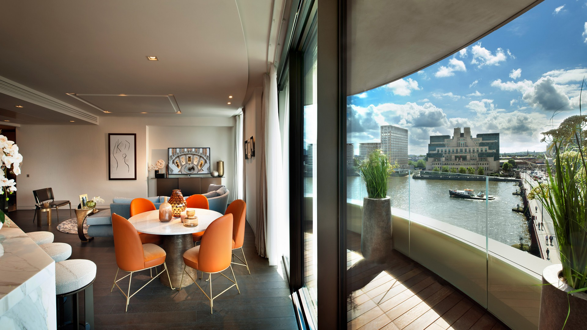 Riverwalk, riverside apartments in Westminster, SW1