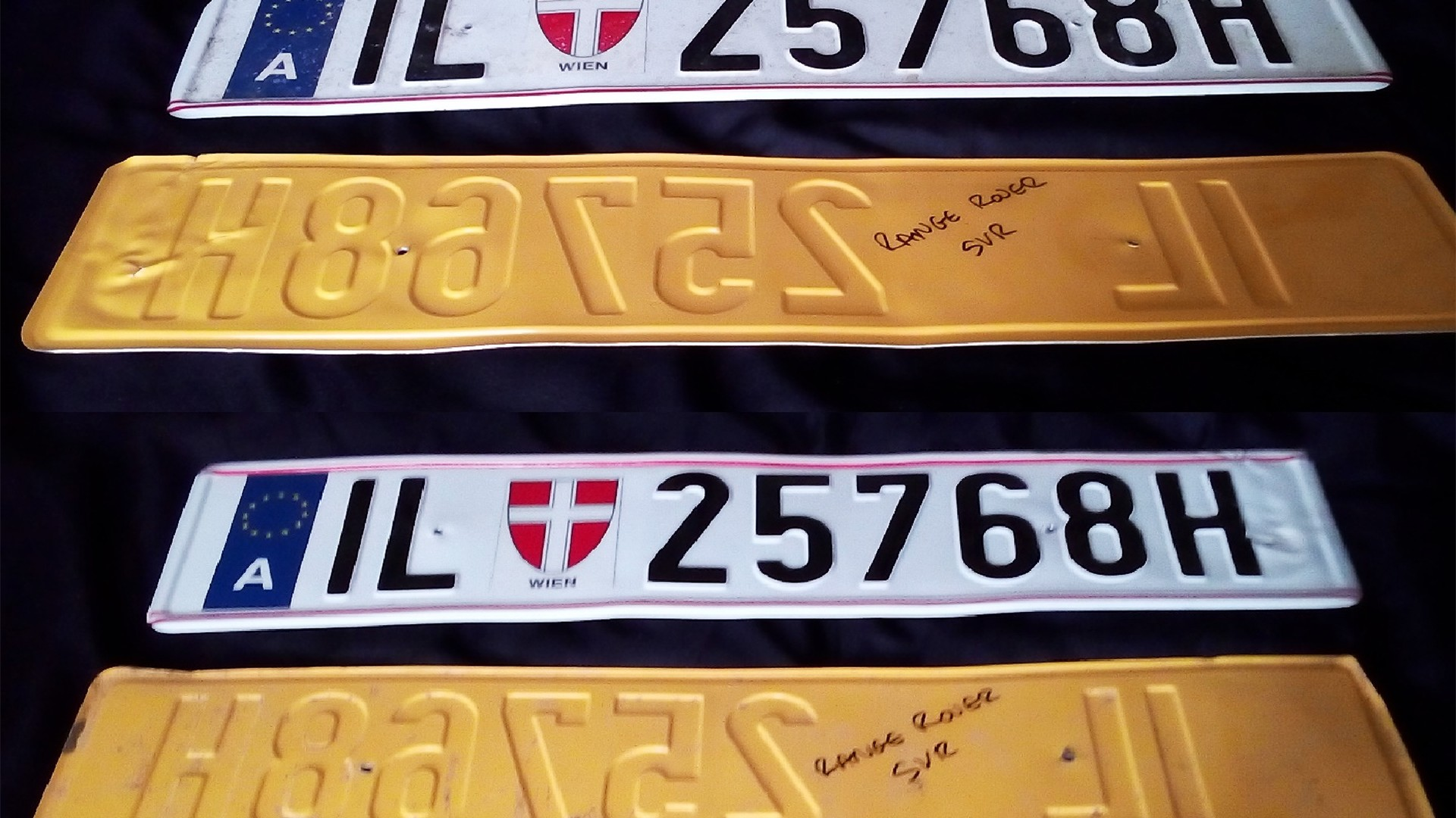 Land Rover licence plates (Spectre)