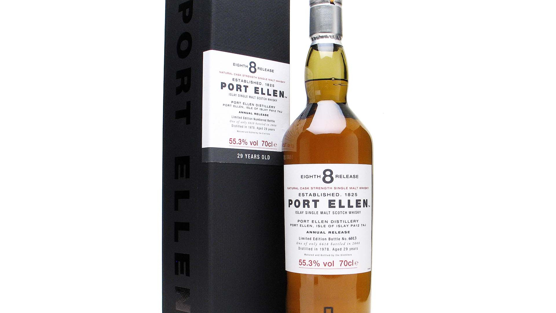 Port Ellen 1978, 29 year old 8th Release (2008), Islay Single Malt Scotch Whisky