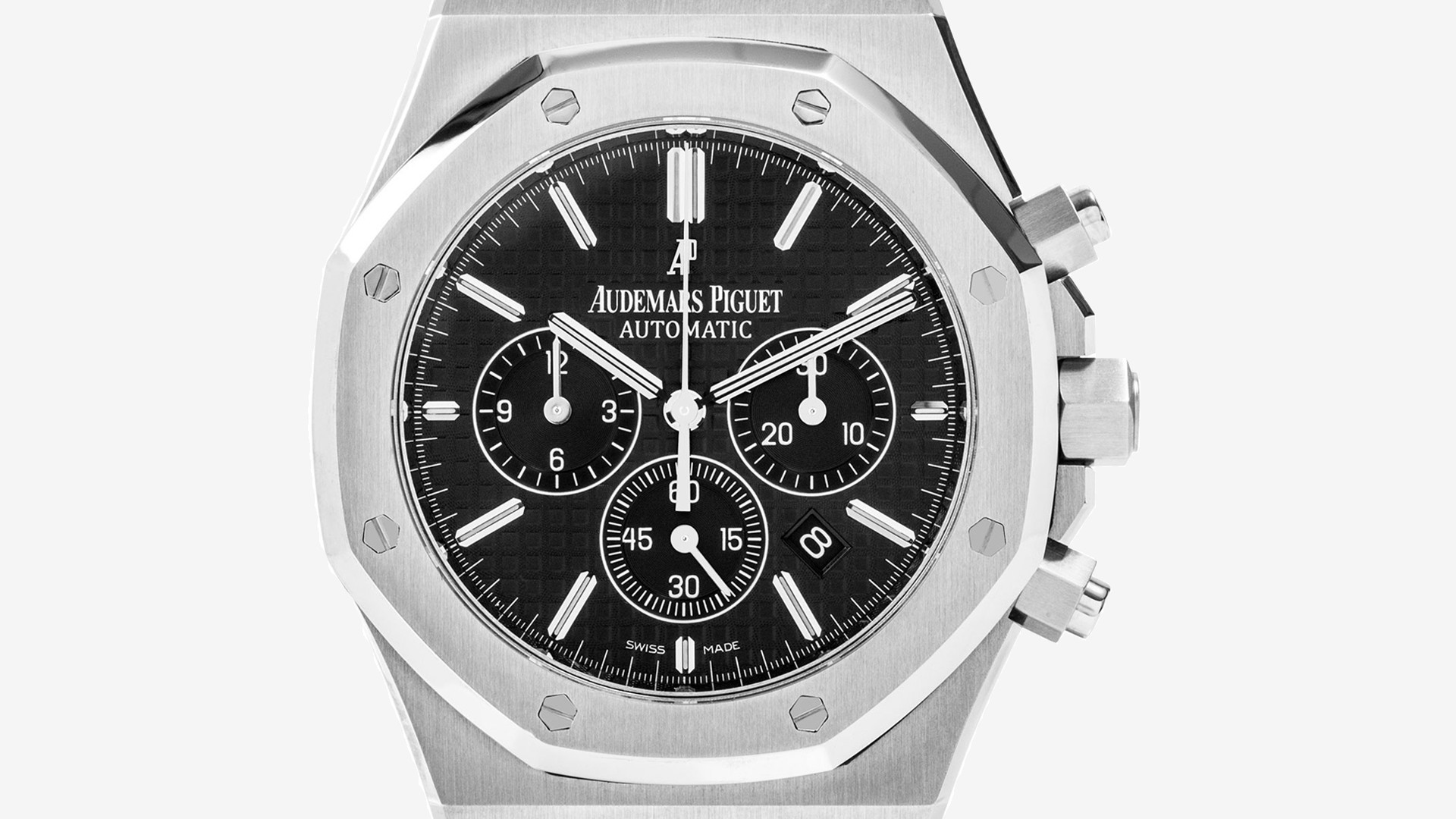 Audemars Piguet Royal Oak Chronograph in stainless steel with black dial