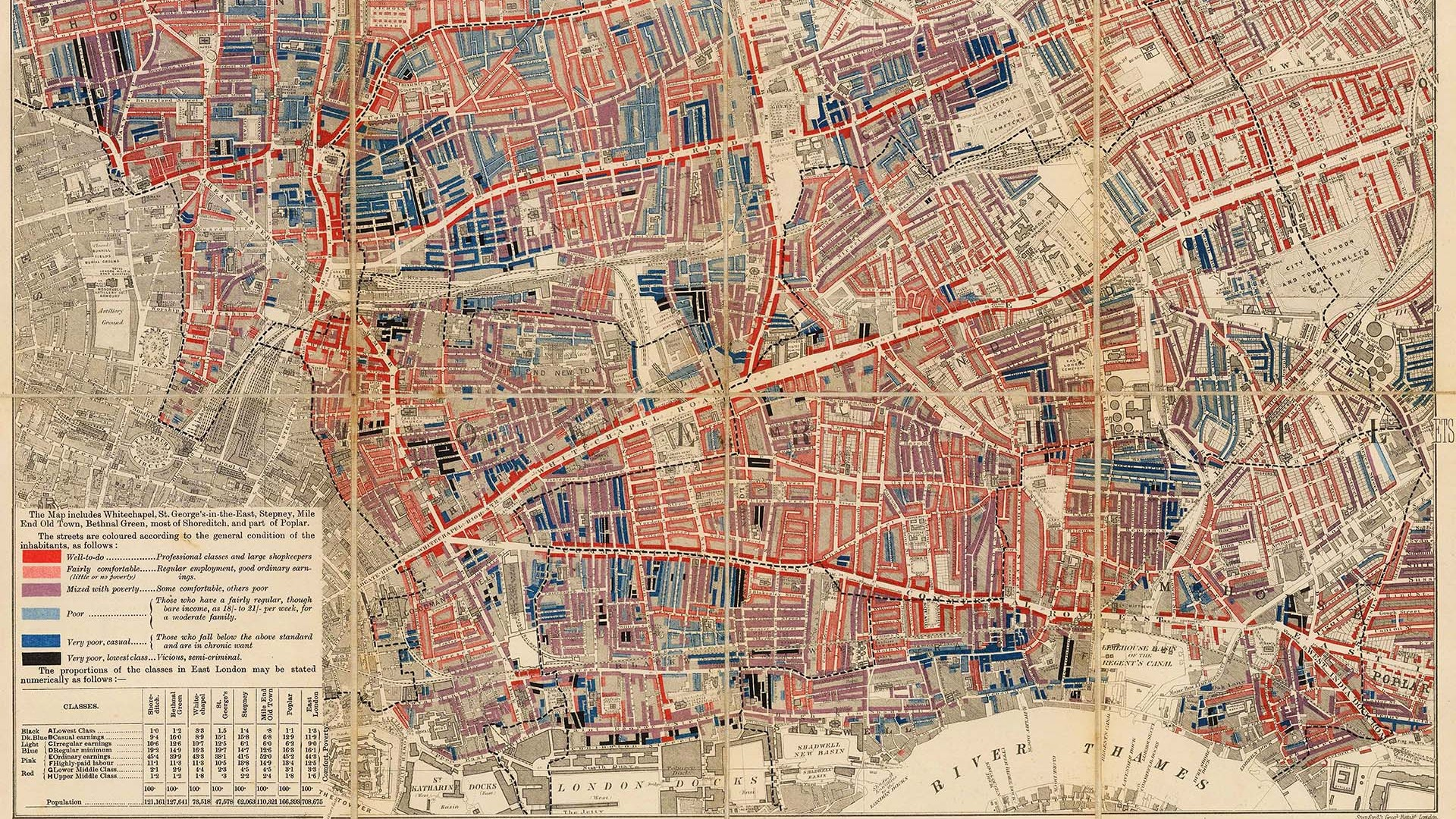 Charles Booth: Descriptive Map of East End Poverty