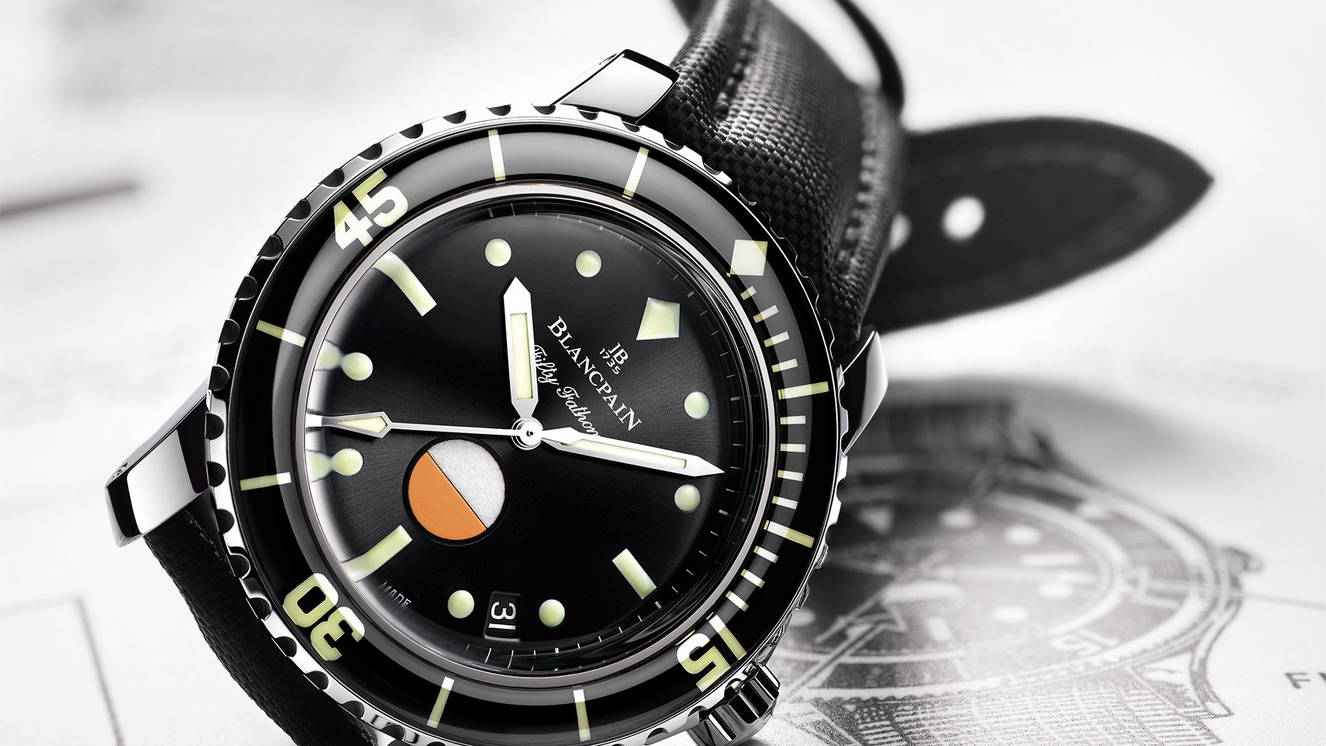 Blancpain Tribute To Fifty Fathoms MilSpec watch