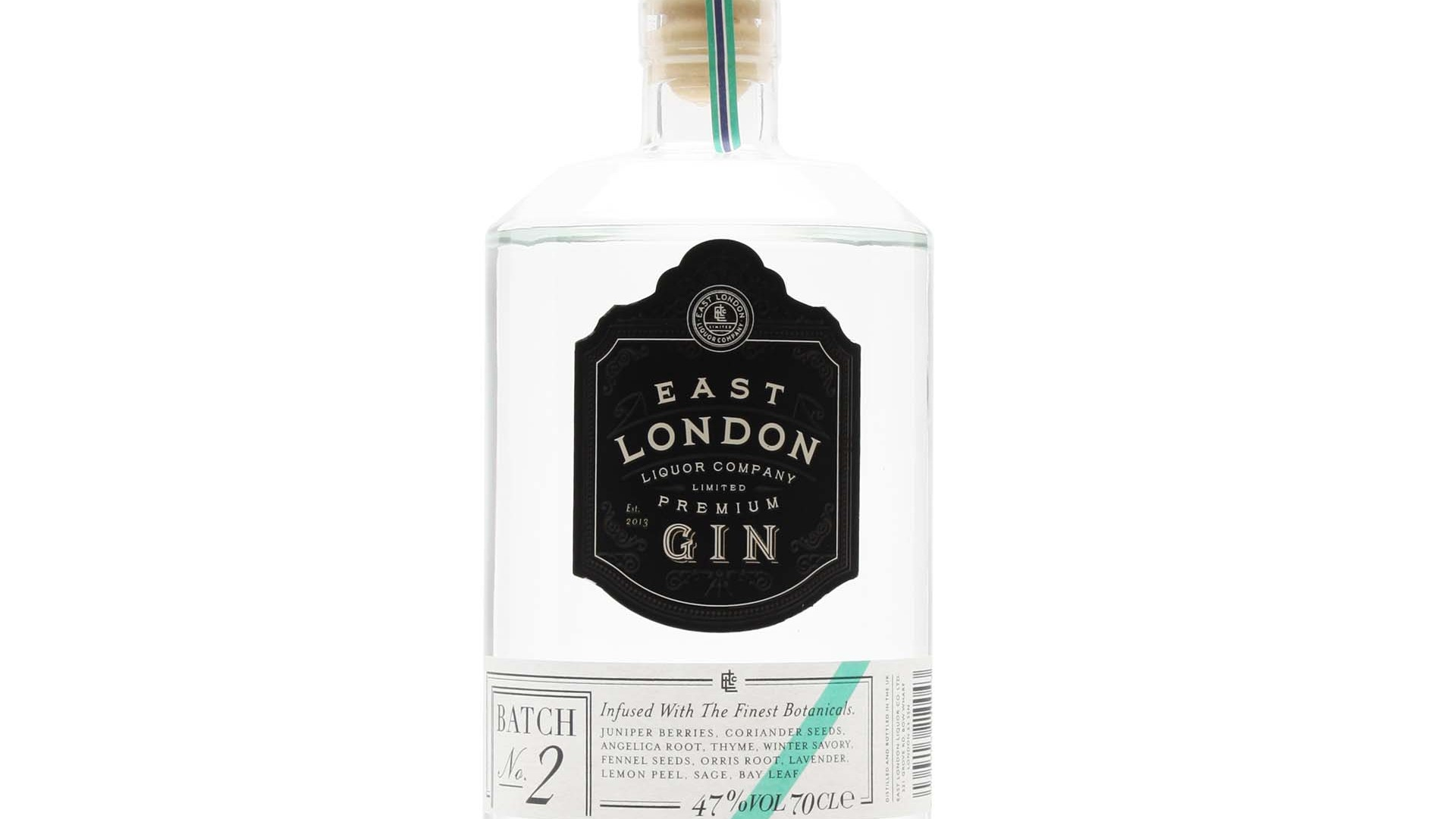 East London Liquor Company Premium Gin Batch No.2