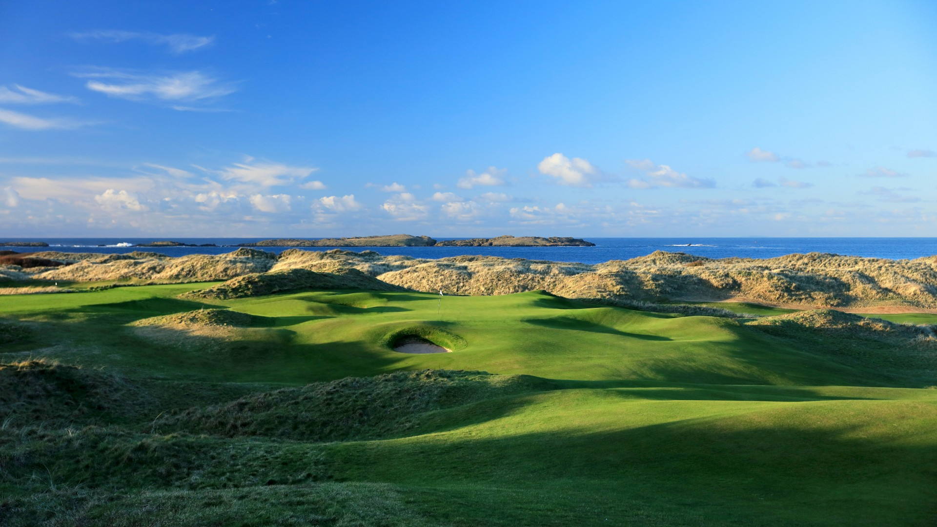Royal Portrush Golf Club, 15th hole Skerries, The Open 2019