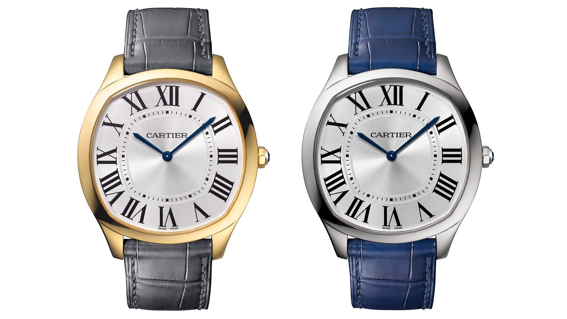 Cartier Drive de Cartier Extra Flat steel watch, SIHH 2018
