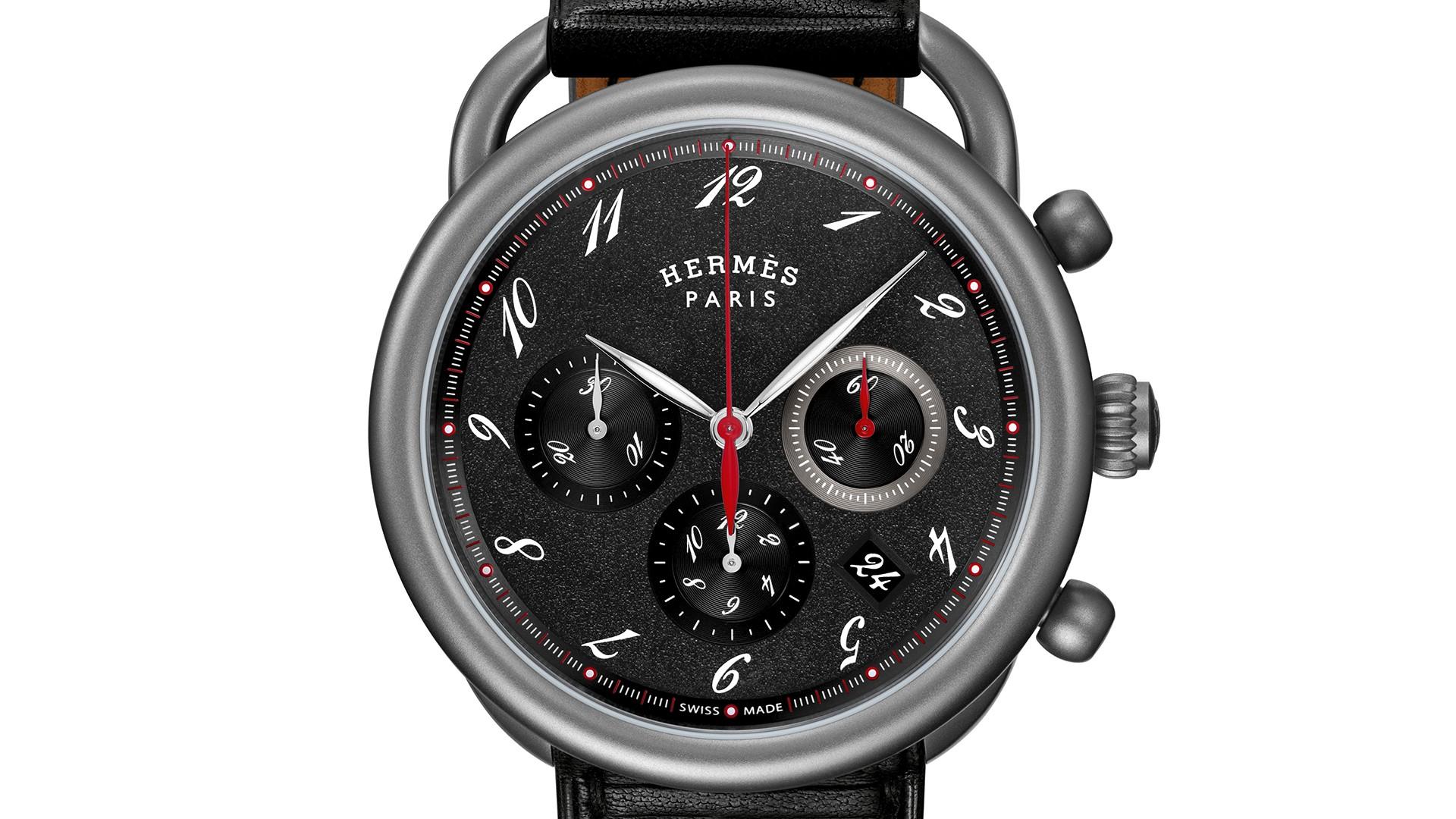 Hermes Arceau Chronographe Titane chronograph watch, SIHH 2018