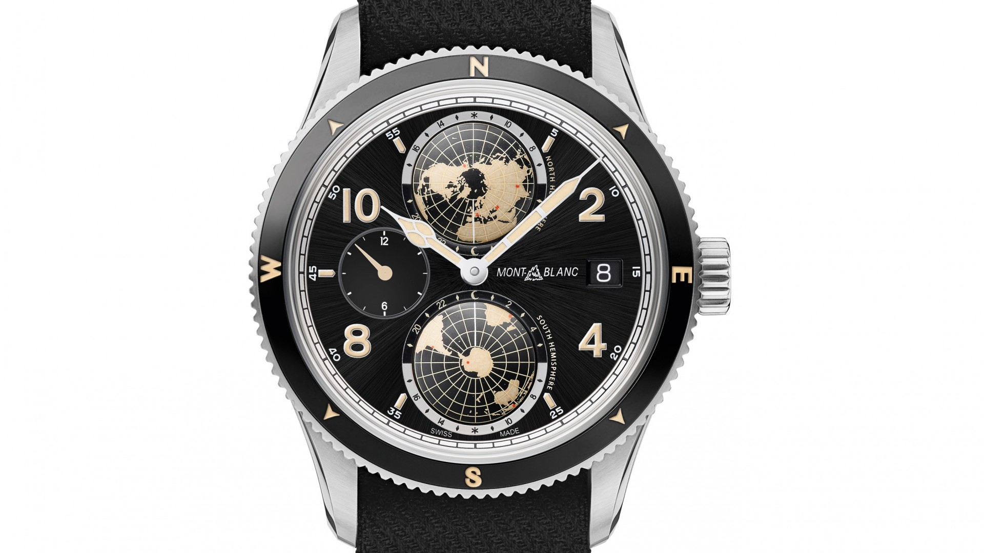 Montblanc 1858 Geosphere dual-time watch, SIHH 2018