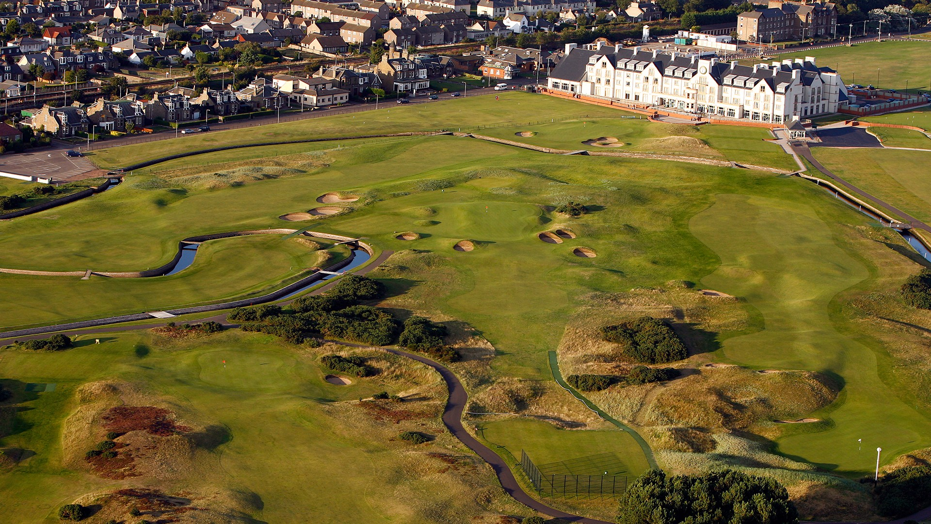 Carnoustie Golf Links 16th Hole – aerial view