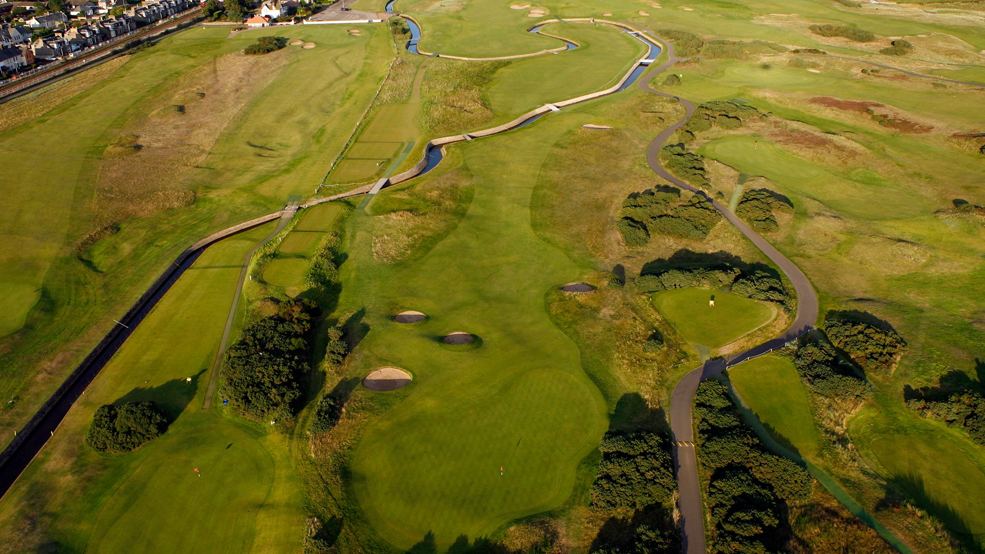 Carnoustie Golf Links 17th Hole – aerial view
