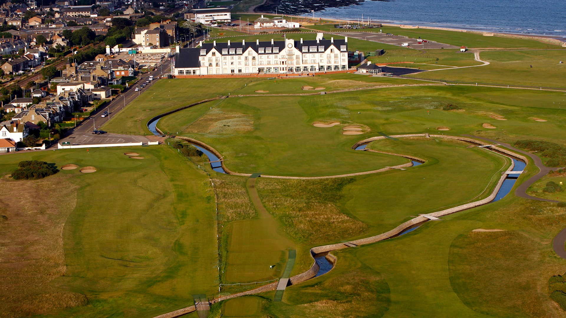 Carnoustie Golf Links 18th Hole – aerial view