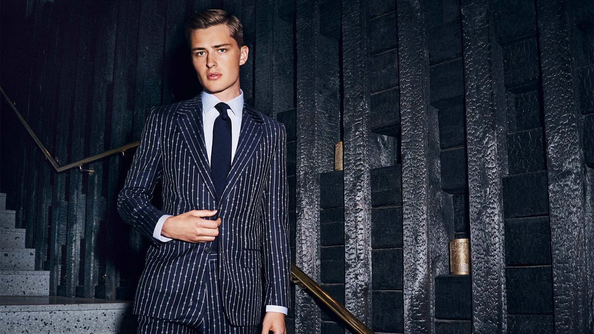 The pinstripe suit