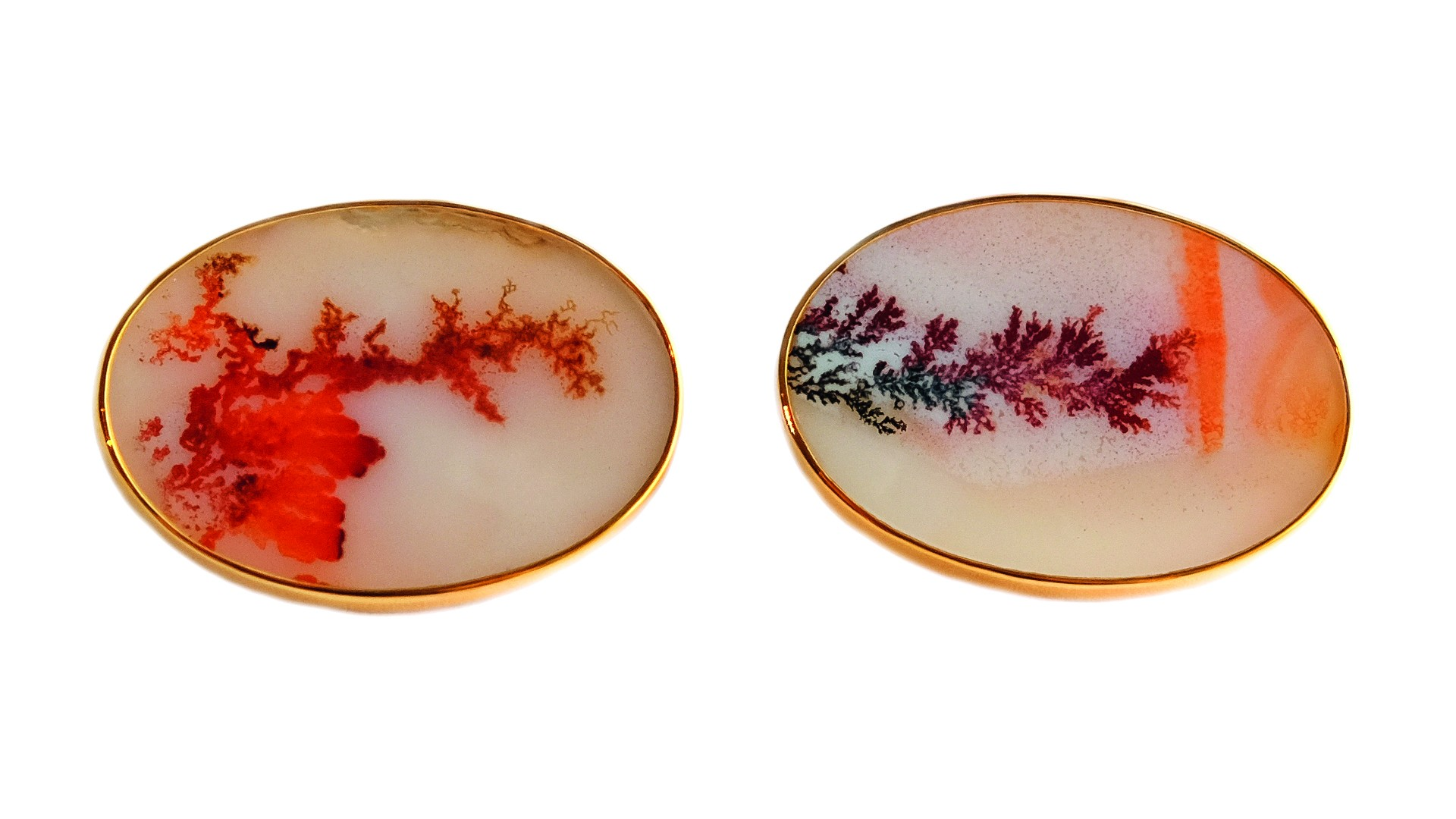 Dendritic agate cufflinks