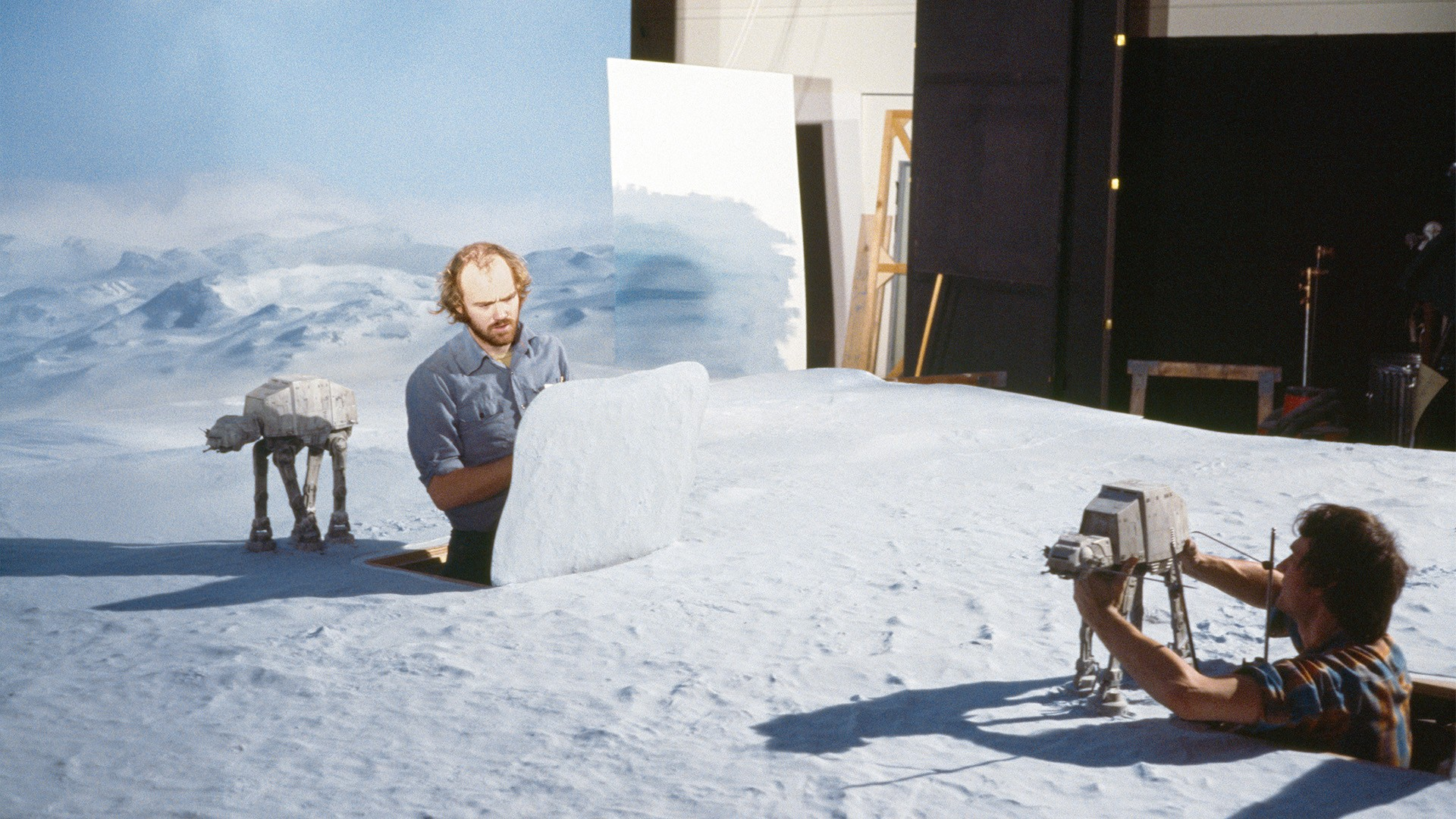 Animators Phil Tippett and Jon Berg
