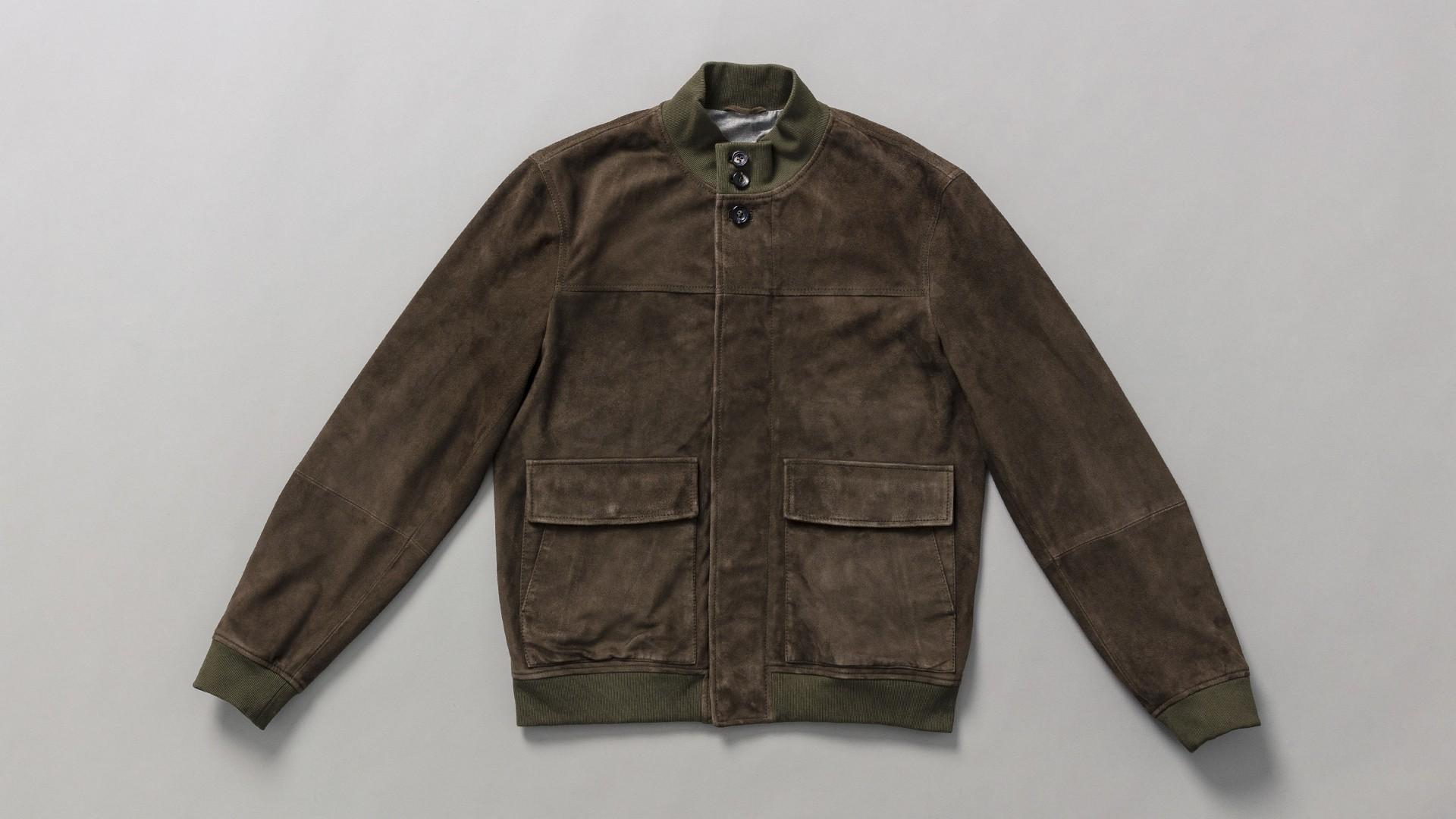 Hackett London Suede bomber jacket