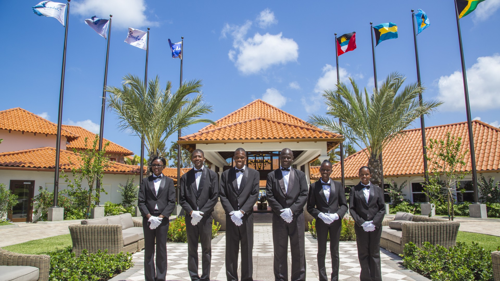 Staff at Sandals Grenada Resort & Spa