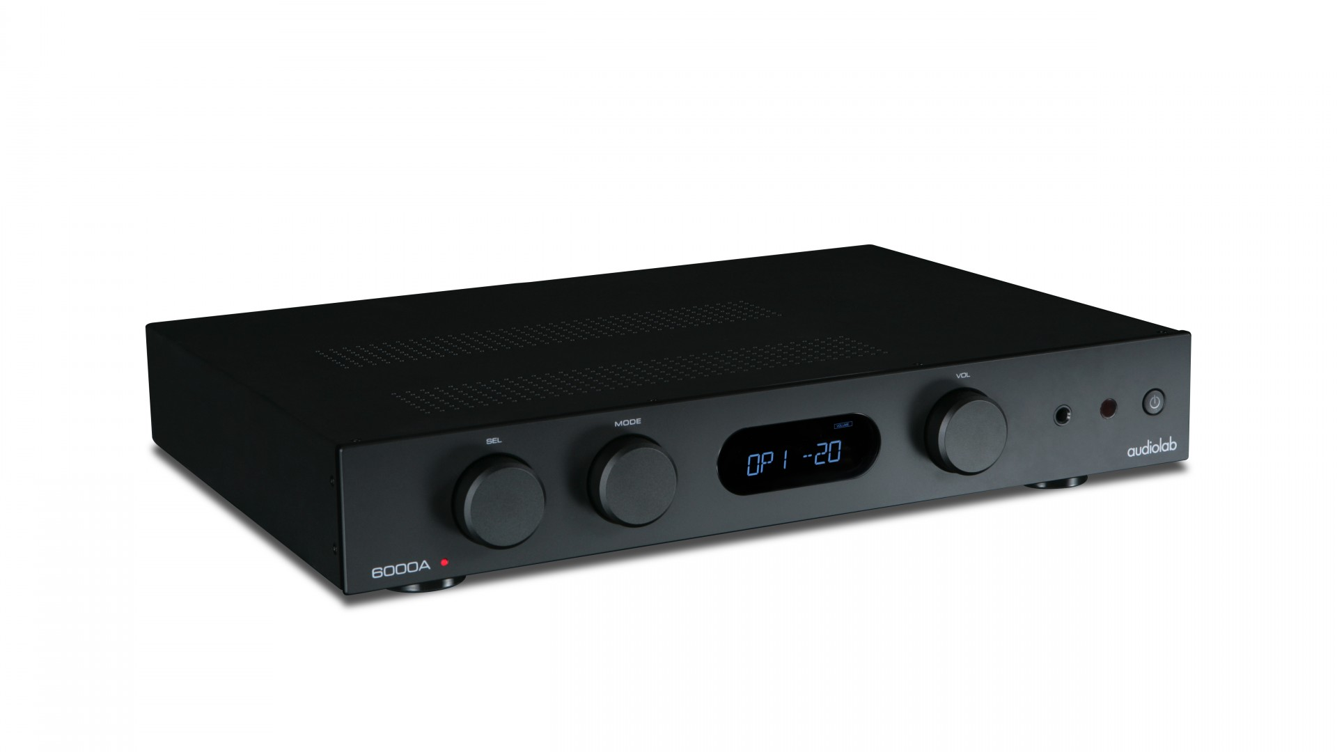 The Audiolab 6000A amplifier in black