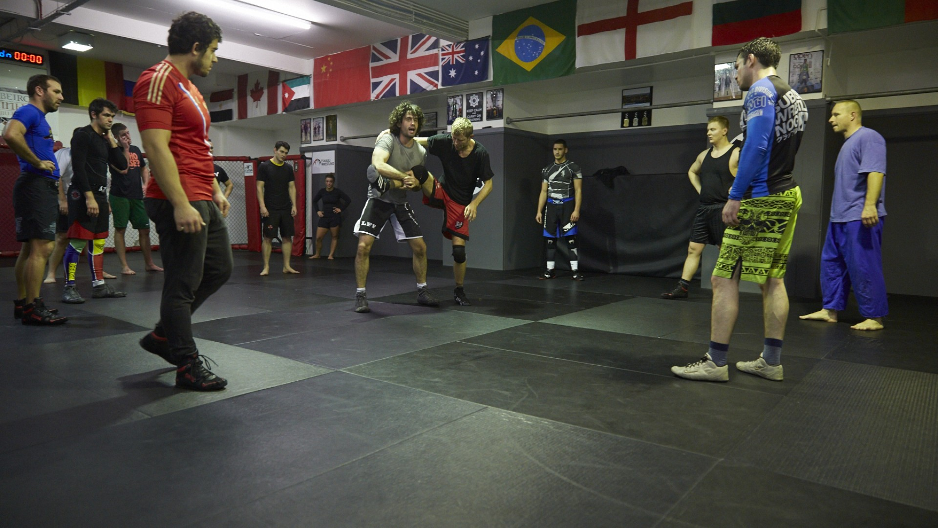 MMA Fighters training at London Fight Factory