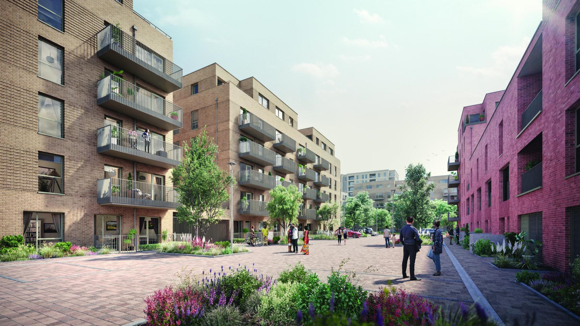 Eastman Village Development North West London Exterior CGI