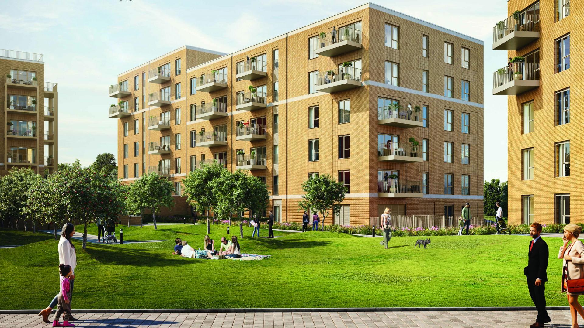Millbrook Park North West London Development Exterior CGI