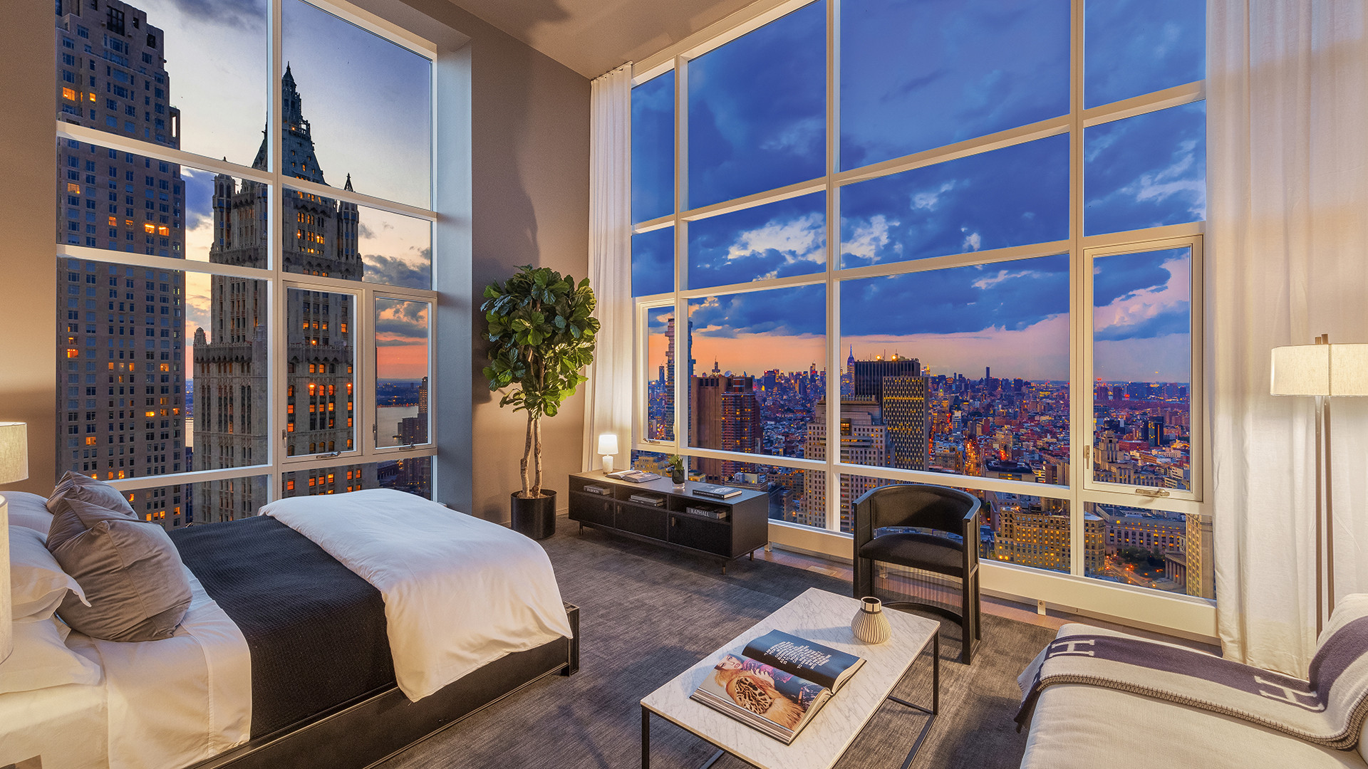 A bedroom at The Beekman Hotel and Residences