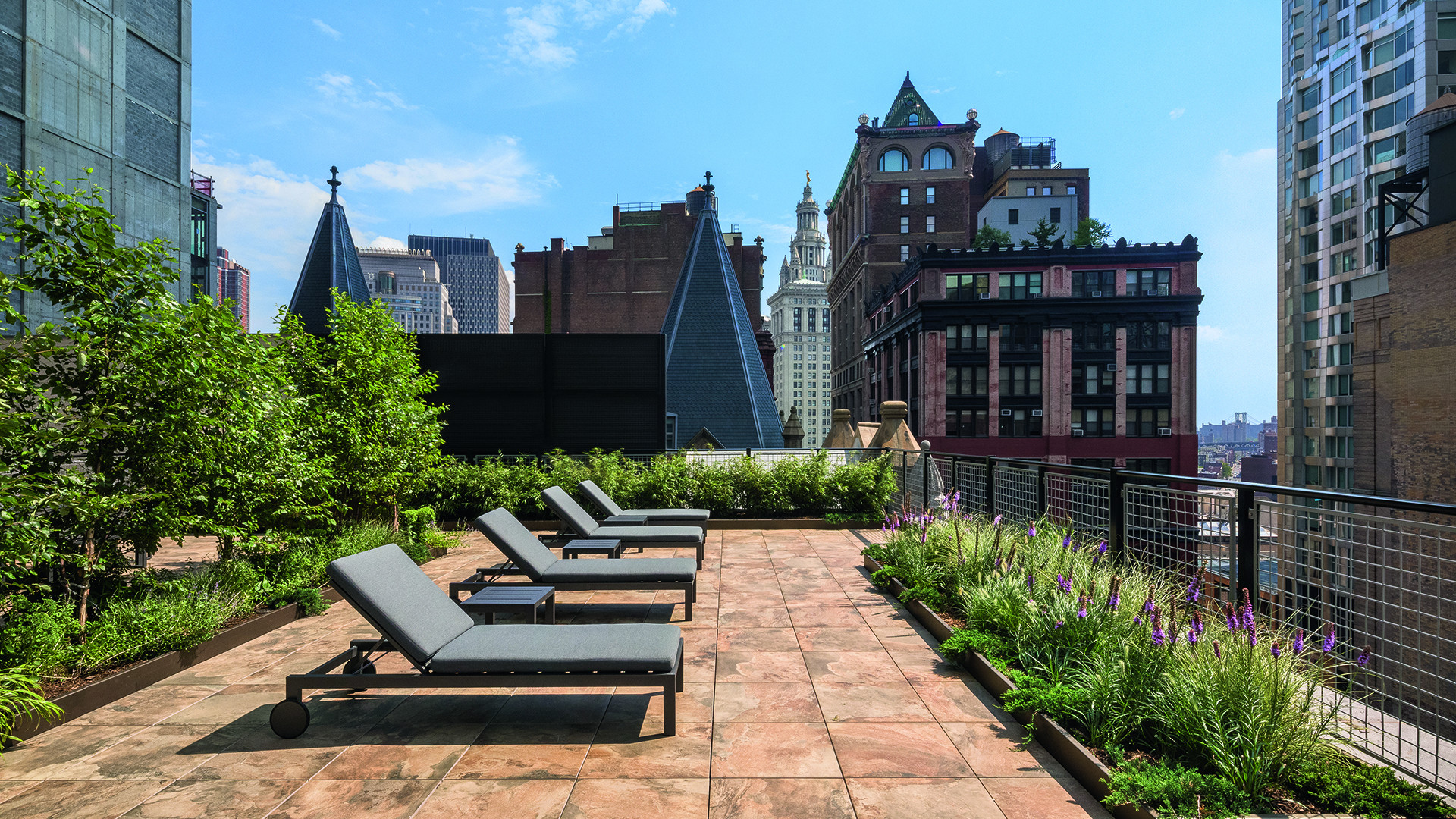 The rooftop at The Beekman Hotel and Residences